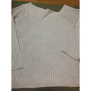 ナチュラルクチュール(natural couture)のワンショル風キラキラニット(ニット/セーター)