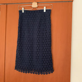 レプシィム(LEPSIM)のレース スカート(ひざ丈スカート)