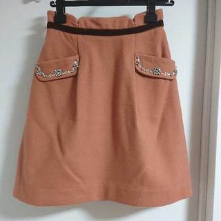 アプワイザーリッシェ(Apuweiser-riche)のApuweiser-riche ビジューポケットスカート オレンジブラウン(ひざ丈スカート)