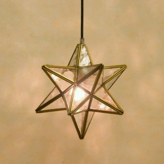 星型ステンドグラスペンダントライト(天井照明)