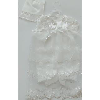 ニシマツヤ(西松屋)の宮参り ベビードレス 白 ホワイト セレモニードレス(お宮参り用品)
