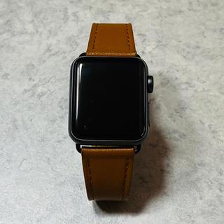 アップルウォッチ(Apple Watch)のApple Watch Series 3(GPS)38mm スペースグレイ(腕時計(デジタル))