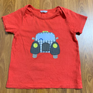 ボーデン(Boden)のbaby boden 車アップリケTシャツ 2-3y 95 100 ボーデン(Tシャツ/カットソー)