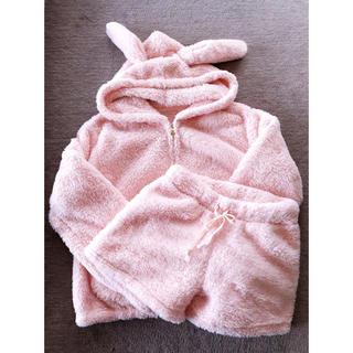 tutuanna - 美品 チュチュアンナ うさ耳 ルームウェアセット ピンク