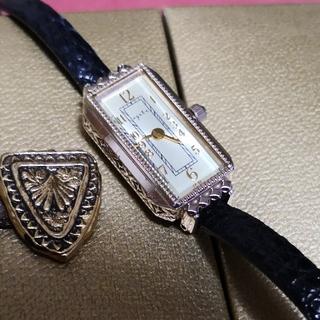 アガット(agete)のagete  スクエア アンティーク時計(腕時計)
