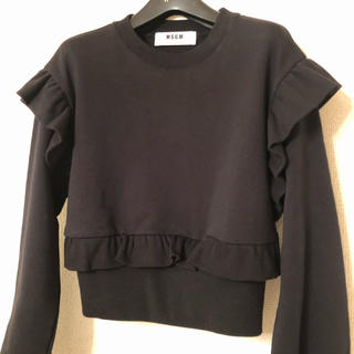 エムエスジイエム(MSGM)のMSGM フリル トレーナー(Tシャツ/カットソー(七分/長袖))