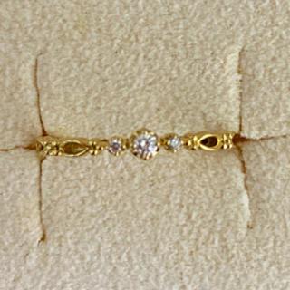 イエローゴールドのk18ダイヤモンドリング  (リング(指輪))
