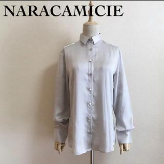 ナラカミーチェ(NARACAMICIE)のNARACAMICIE サテン生地 ブラウス 大きめサイズ3(シャツ/ブラウス(長袖/七分))