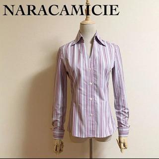 ナラカミーチェ(NARACAMICIE)のNARACAMICIE ストライプブラウス サイズ0(シャツ/ブラウス(長袖/七分))