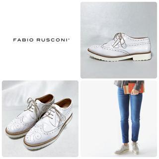 FABIO RUSCONI - ■美品 定2.9万 ファビオルスコーニ ウイングチップシューズ 37 23.5