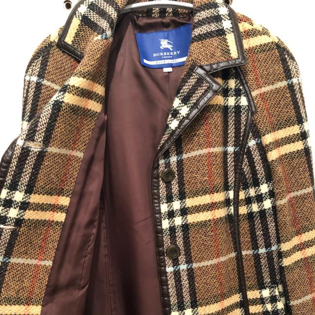 BURBERRY BLUE LABEL(バーバリーブルーレーベル)のバーバリーBurberryブルーレーベル希少ノバチェック 柄ロングコート! レディースのジャケット/アウター(ロングコート)の商品写真