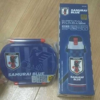サッカー サムライブルー お弁当箱&水筒(弁当用品)