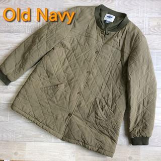 オールドネイビー(Old Navy)の【Old Navy】キルティングブルゾンジャケット カーキ Lサイズ(ブルゾン)