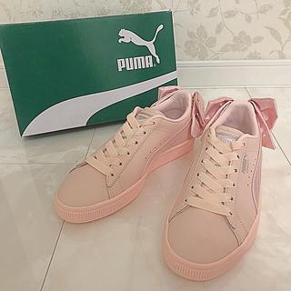プーマ(PUMA)の☆新品未使用☆ PUMA プーマ スニーカー リボンピンク 23cm(スニーカー)