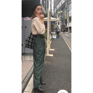 moussy - moussy WAIST BELT TUXEDO PANTS 近藤千尋さん着用