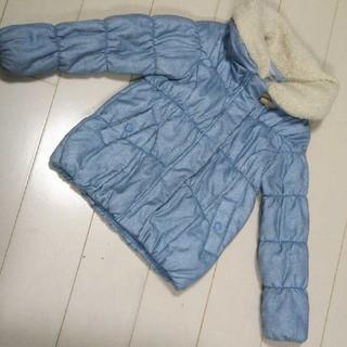 シマムラ(しまむら)の140 水色の中綿コート(コート)