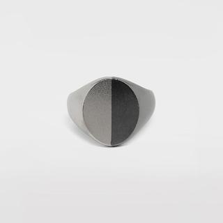 マルタンマルジェラ(Maison Martin Margiela)のMAISON MARGIELA ツートーン シルバー シグネット リング(リング(指輪))