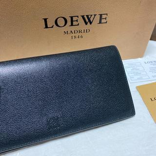 ロエベ(LOEWE)のロエベ LOEWE メンズ財布 長財布 ブラック 黒色 アナグラム(長財布)