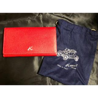 キタムラ(Kitamura)のキタムラkitamura2長財布赤訳あり保存袋付き(財布)