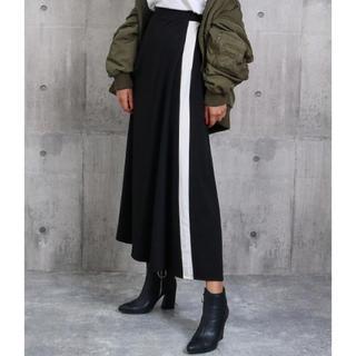 アナップ(ANAP)のANAP 新品 マキシ丈ラインイージースカート ブラック(ロングスカート)