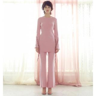Rosary moon - Rosarymoon♡Lace-up Rib Top