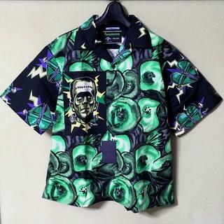 プラダ(PRADA)のPRADA 19AW オープンカラーシャツ 切り替え オーバーサイズ コラボ(シャツ)