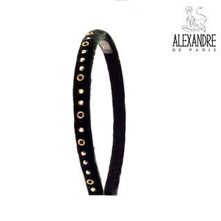 アレクサンドルドゥパリ(Alexandre de Paris)の♪新品/レア♪アレクサンドルドゥパリ♪ビロードスタッズカチューシャ深緑♪(カチューシャ)