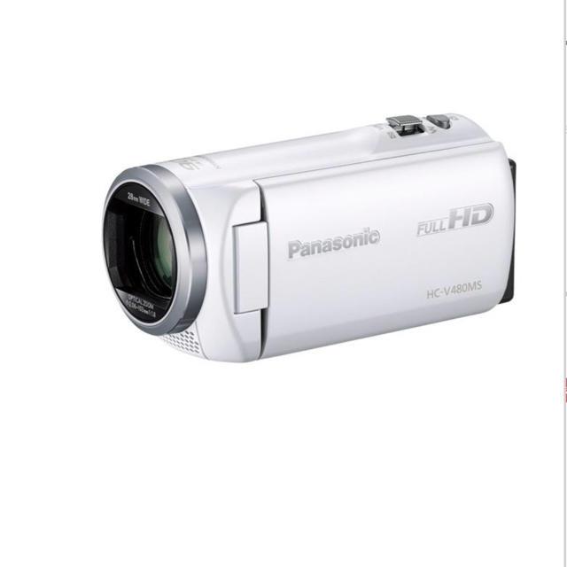 Panasonic(パナソニック)のPanasonic HC-V480MS-W(ホワイト)   スマホ/家電/カメラのカメラ(ビデオカメラ)の商品写真