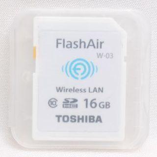 トウシバ(東芝)の❤️大容量でお買い得❤️TOSHIBA FlashAir SDカード 16GB❤(デジタル一眼)