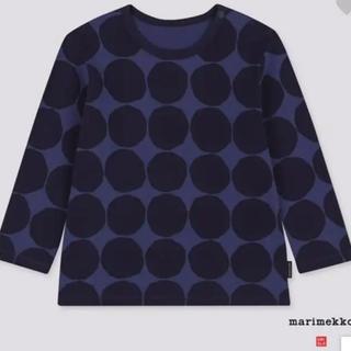 マリメッコ(marimekko)の【UNIQLO×marimekko】キッズ ロングTシャツ 84サイズ(シャツ/カットソー)
