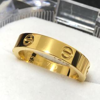 ラブリング ストーンなし4mm レディースステンレスリング  ゴールドリング(リング(指輪))