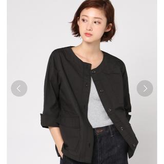 ikka - ikka コットンシャツジャケット ブラックM