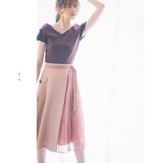 アプワイザーリッシェ(Apuweiser-riche)のアプ♡2wayアシメレーススカート(ひざ丈スカート)