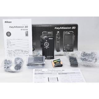 ニコン(Nikon)の極上美品☆Nikon KeyMission 80☆防水ウェアラブルカメラ(ビデオカメラ)