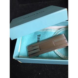 ティファニー(Tiffany & Co.)の美品 ティファニー マネークリップ シルバー925 エンジンターン ビルクリップ(マネークリップ)
