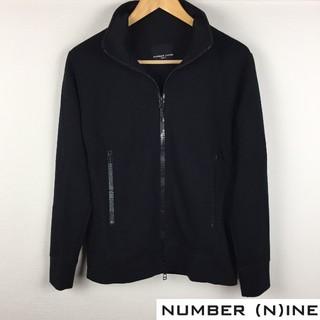 ナンバーナイン(NUMBER (N)INE)の美品 ナンバーナイン 長袖ジャージ ブラック サイズS(ジャージ)