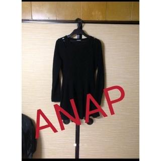 アナップ(ANAP)のANAP肩デザインsexyワンピース 黒!(ひざ丈ワンピース)