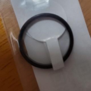 指輪 レディース メンズ ピンキーリング 黒 3号(リング(指輪))