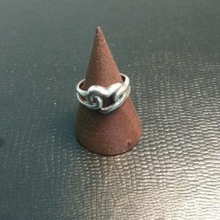 ハートデザインシルバーリング  925刻印あり 8号(リング(指輪))