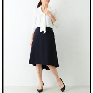 Demi-Luxe BEAMS - デミルクスビームス*バックフレアーAラインスカート[38] ネイビー