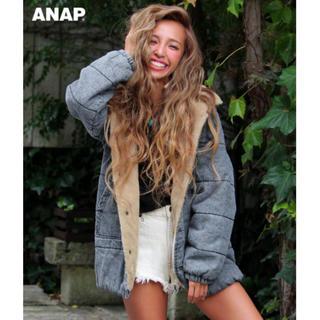 ANAP デニムボア中綿フーディジャケット