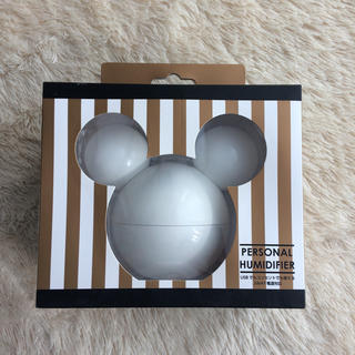 ディズニー(Disney)の【新品未開封】卓上加湿器 ミッキー ホワイト(加湿器/除湿機)