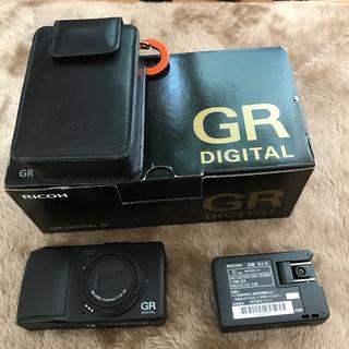 リコー(RICOH)のRICOH GR digital Ⅳ 純正ケース付き(コンパクトデジタルカメラ)