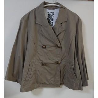フェリシモ(FELISSIMO)の春物アウター ショートジャケット コンパクトジャケット 茶色 ブラウン(テーラードジャケット)