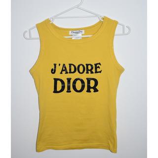 クリスチャンディオール(Christian Dior)のレア Dior ディオール j'adore dior タンクトップ イエロー(タンクトップ)