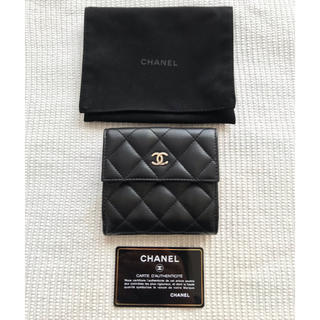 シャネル(CHANEL)の美品 シャネル 2つ折りミニウォレット(折り財布)