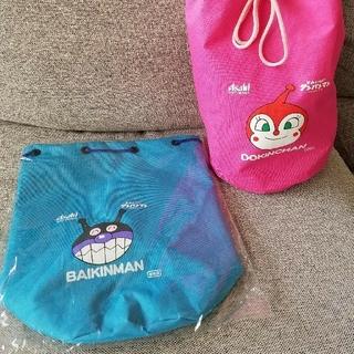 アンパンマン(アンパンマン)の【非売品】バイキンマン 巾着バッグ(レッスンバッグ)