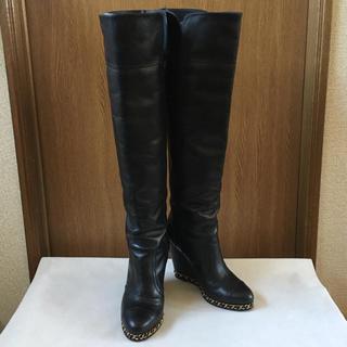 シャネル(CHANEL)の美品 シャネル 2wayブーツ 黒(ブーツ)