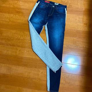 ダブルスタンダードクロージング(DOUBLE STANDARD CLOTHING)のダブルスタンダードクロージング スウェット切り替えスキニーパンツ(デニム/ジーンズ)
