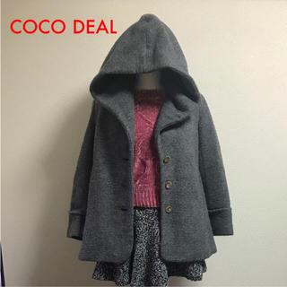 ココディール(COCO DEAL)のココディール フード付きハーフコート(その他)